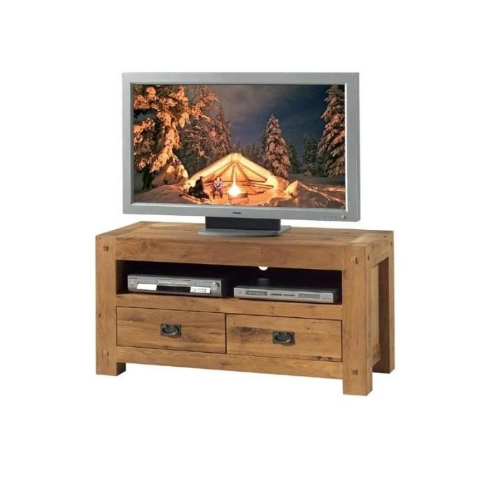 meuble tv ch ne massif achat vente meuble tv meuble tv. Black Bedroom Furniture Sets. Home Design Ideas