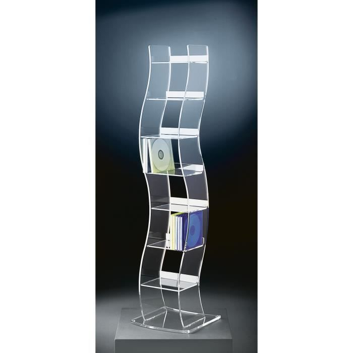 Designer Cd Rack Cd Etagere Cd Rangement En Acrylique Haute Qualite Transparent 25 X 25 Cm H 100 Cm L Epaisseur De Achat Vente Meuble Tv Mural Designer Cd Rack Cd Etagere Cdiscount