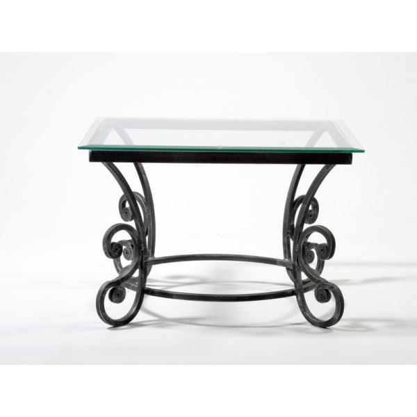 Table basse carr e fer forg marcus coloris gr achat for Table salon fer forge