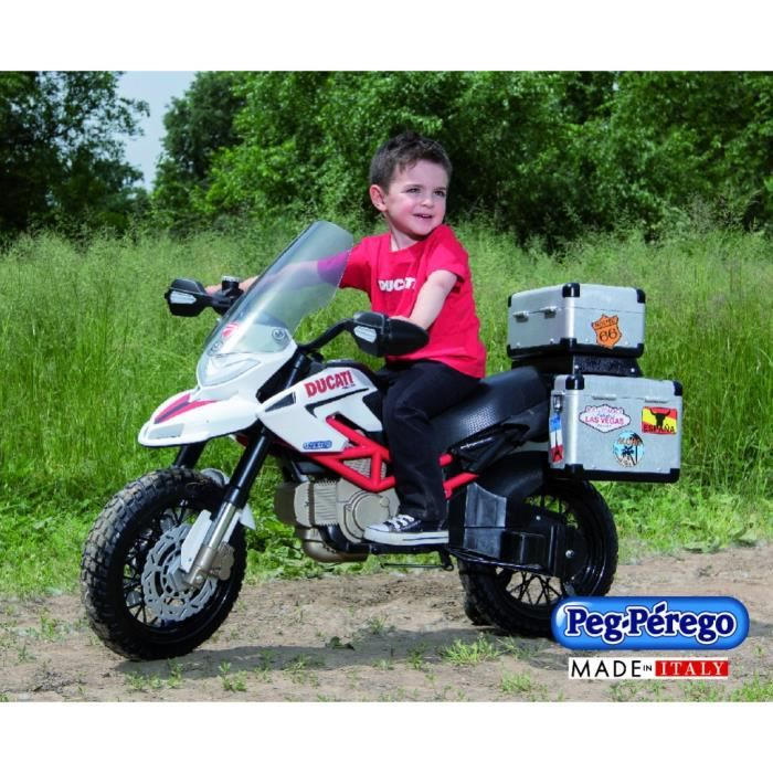 moto lectrique pour enfant ducati hypercross 12v achat vente voiture enfant les. Black Bedroom Furniture Sets. Home Design Ideas
