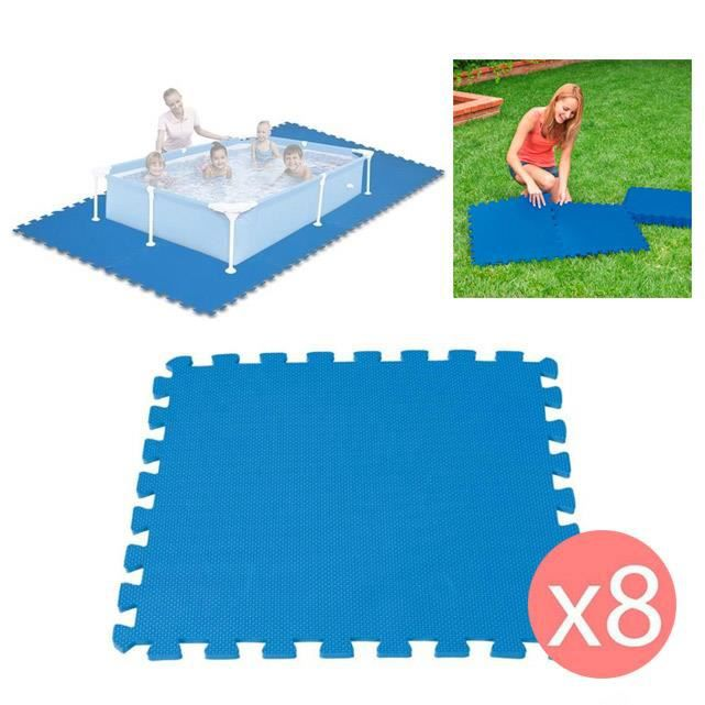 8 dalles tapis de sol modulable pour piscine 50 cm x 50 cm achat vente b che couverture. Black Bedroom Furniture Sets. Home Design Ideas