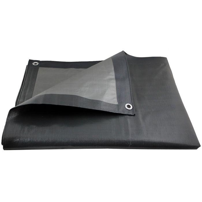 + 10 tendeurs de b/âche I Toile de Protection avec des /œillets m/étalliques pour mobilier de Jardin 200 g//m2 Piscine CoverUp b/âche 2 x 2 m Voiture Camion