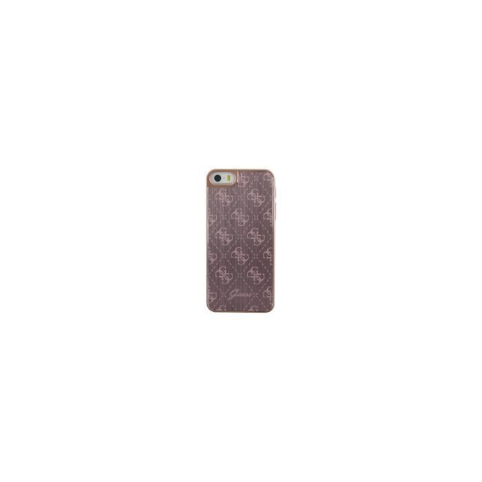 guess coque en aluminium pour iphone 5s se rose. Black Bedroom Furniture Sets. Home Design Ideas