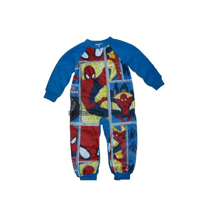 surpyjama spiderman 2 ans combinaison pyjama enfants chaud. Black Bedroom Furniture Sets. Home Design Ideas