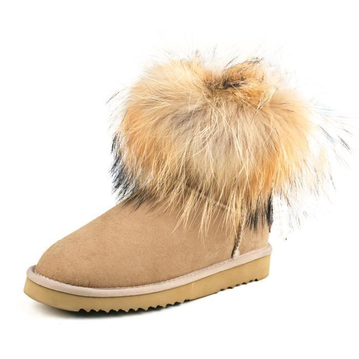 Ausland Bottes de neige femme, Boots fourrées de mouton