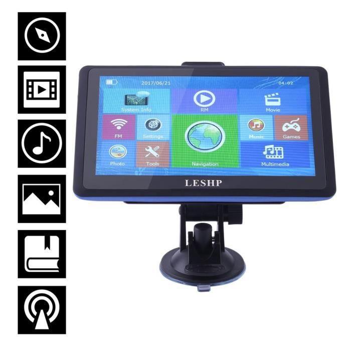 GPS AUTO 7 pouces Navigation GPS 8G pour voiture Full HD