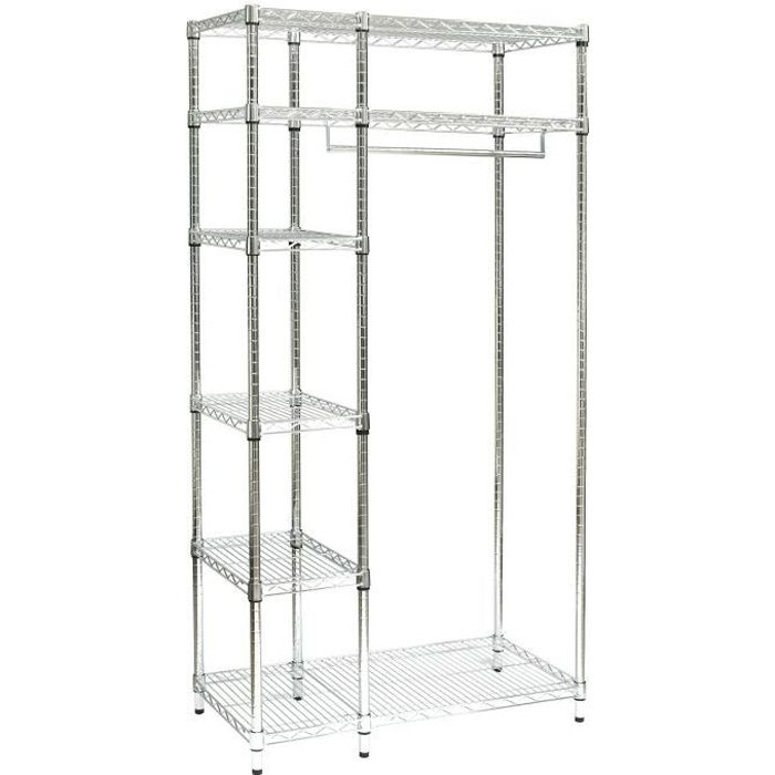 archimede armoire penderie metal chrome