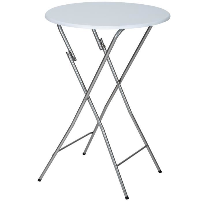 Table De Bar Table De Bistro Table Haute Table De Jardin Table Pliable 60 Cm X 110 Cm