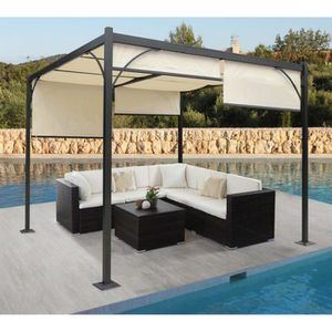 pergola en aluminium achat vente pas cher cdiscount. Black Bedroom Furniture Sets. Home Design Ideas