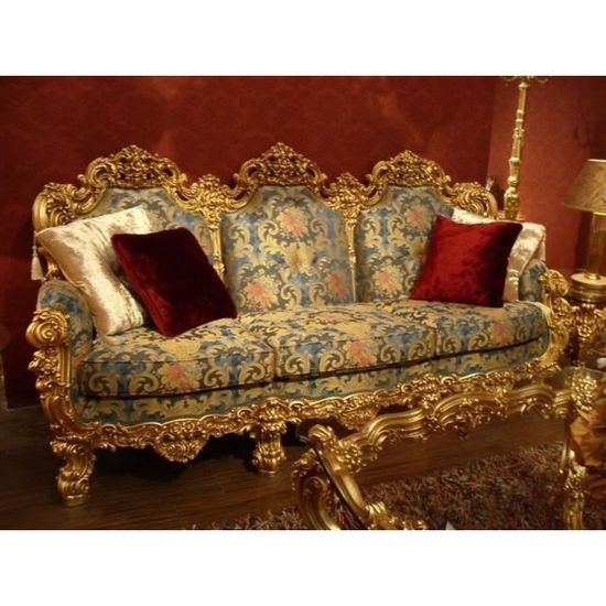 Baroque Salon Sofa 2er 3er Table Chaise Vp0890 De Style Antique