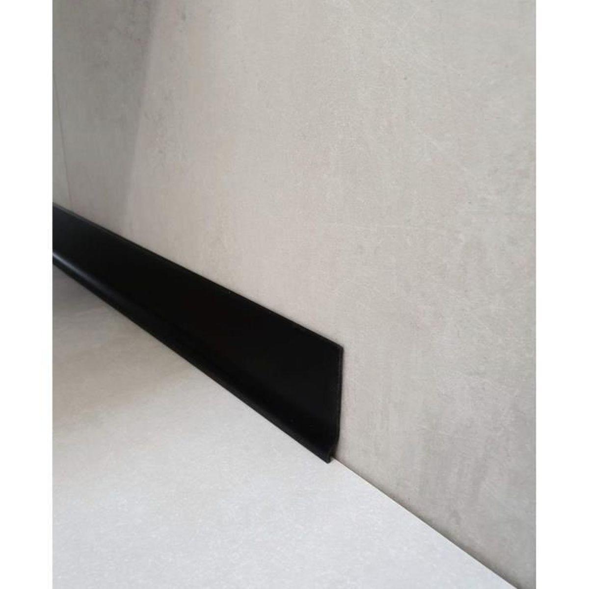 Plinthe Souple En Pvc Grande Qualite De Madeinnature Hauteur 70 Mm Longueur 10ml Noir Achat Vente Plinthe Pvc Plinthe Souple En Pvc Grand Cdiscount