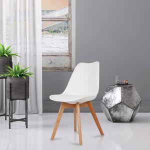 CHAISE Chaise Lot de 4 Chaises Lorenzo Style Scandinave B