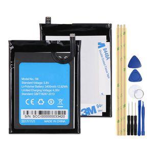 Batterie téléphone Mcdark 3400mAh S8 Batterie Pour Homtom S8 Batterie