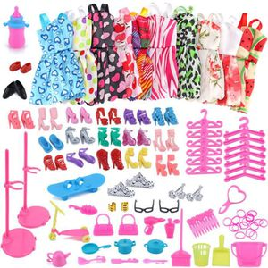 JOUET 83PC / 1Set Barbie Dress Up Vêtements Lot Pas Cher