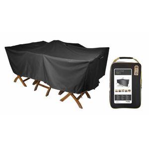 Premium Table de jardin Housse de protection bâche de B 235 cm x T 85 cm x H 65 cm Marron