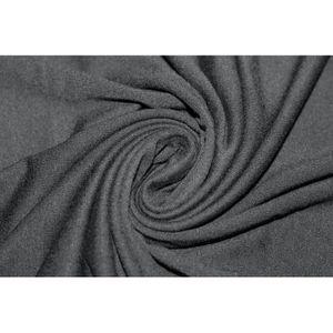 TISSU Tissu Jersey Viscose Noir -Au Mètre