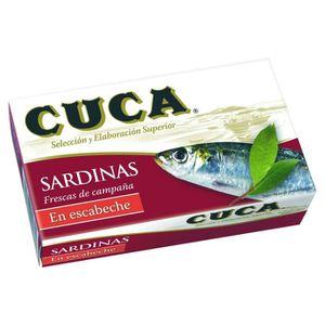 PRODUIT DE SARDINE Sardines en escabèche Cuca