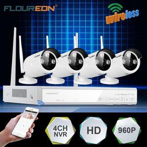 CAMÉRA DE SURVEILLANCE Kit Caméra de Surveillance Floureon 1x 4CH 1080P H