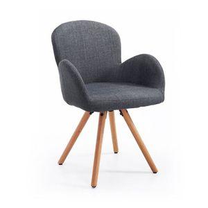 CHAISE Chaise de visiteur design scandinave pieds incliné