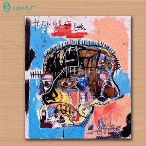 TABLEAU - TOILE Jean Michel Basquiat Abstrait Peinture à l'huile H