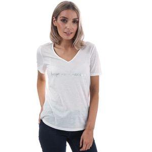 T-SHIRT T-Shirt Vero Moda Night pour femme en blanc.