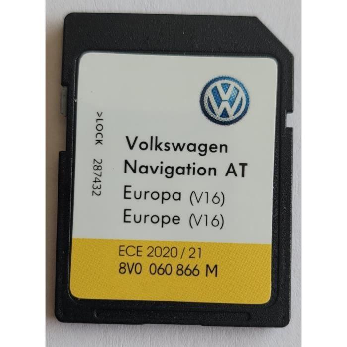Carte SD GPS Europe - Navigation AT - VW Discover Media 1 MIB1 - v16 2021 - 8V0060866M