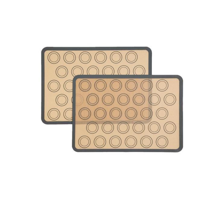 4 pièces Tapis de cuisson en silicone antiadhésif Tapis de four en fibre de verre résistant aux hautes températures Tapis de macaron