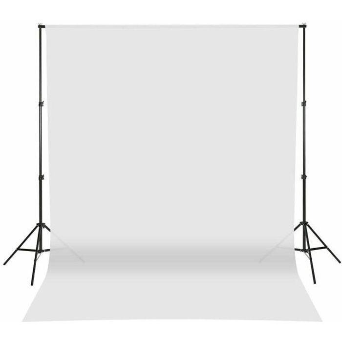 Toile de Fond Pro Studio Photo 100% Pure Mousseline Pliable Pour Éclairage Photo Studio - 2 X 1m (Blanc)