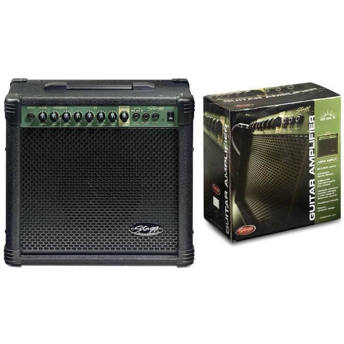 STAGG Ampli Guitare 20 W RMS Réverbe A Ressort