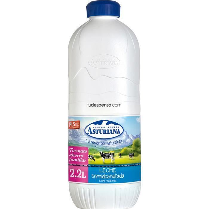 Central Lechera Asturiana 8410297110986, 2200 ml, Lait demi-écrémé, Espagne, 190 kcal, 1,55 g, 1 g