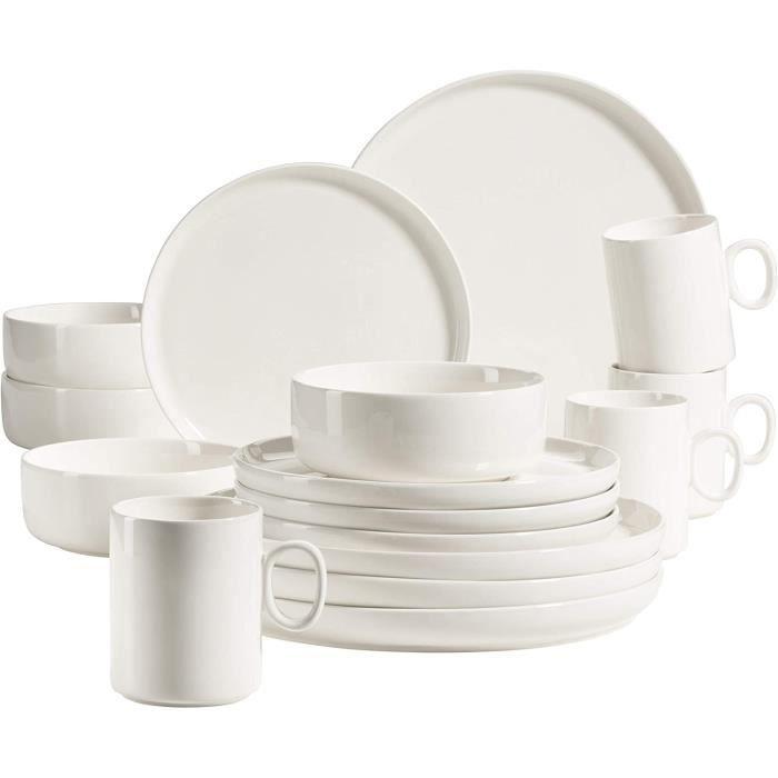 Plat 931617 S&eacuterie Finaro Service de table pour 4 personnes de qualité gastronomique, design scandinave, service de 249