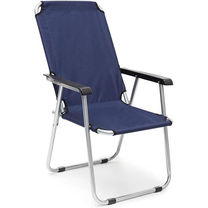 CHAISE DE CAMPING days 10020074 Chaise de camping pliante fauteuil de jardin pliable balcon terrasse siegravege de camping plage45