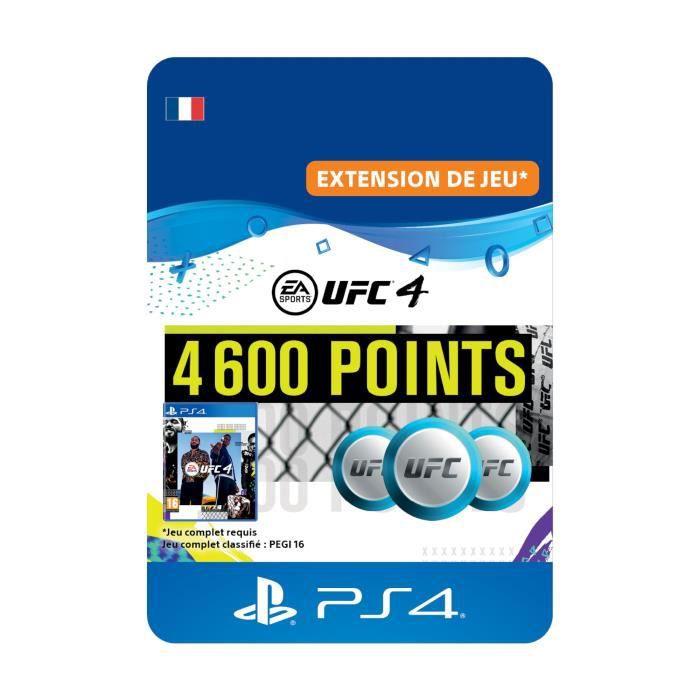 DLC 4600 Points UFC pour UFC®4 - Code de Téléchargement PS4