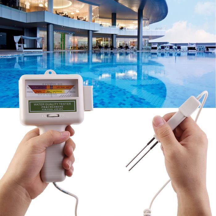 Testeur de ph et de chlore de piscine portable pour piscine - spa - aquarium
