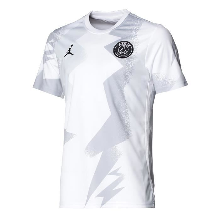 NIKE Maillot de Football PSG Dry PM 4TH 19 - Homme - Blanc