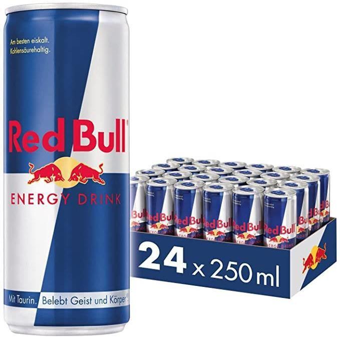 Red Bull canettes lot de 24 unités de 250ml, boisson énergisante