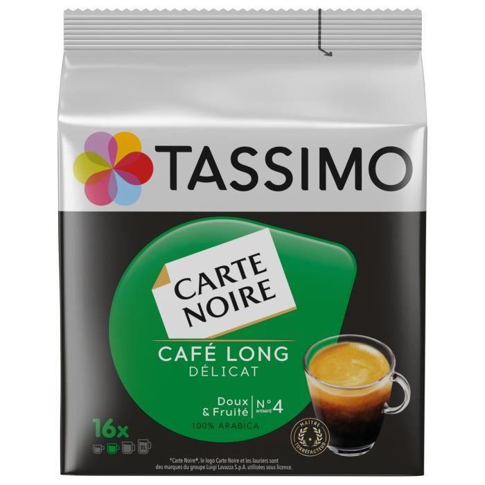 LOT DE 2 - TASSIMO carte noire n°4 long delicat Café dosettes - 16 dosettes