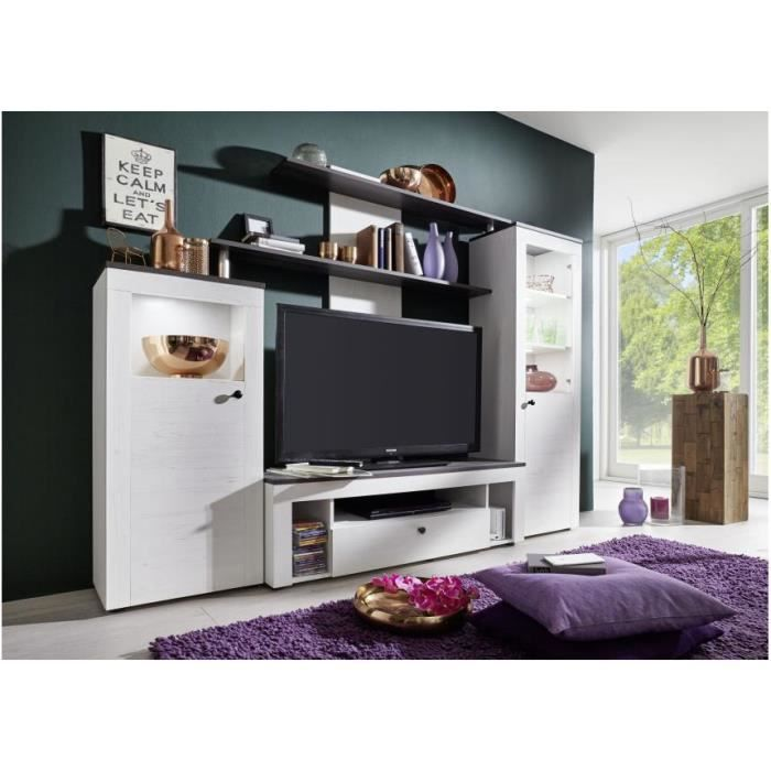 meuble mural tv salon arprosa com of meuble mural multimedia. Black Bedroom Furniture Sets. Home Design Ideas
