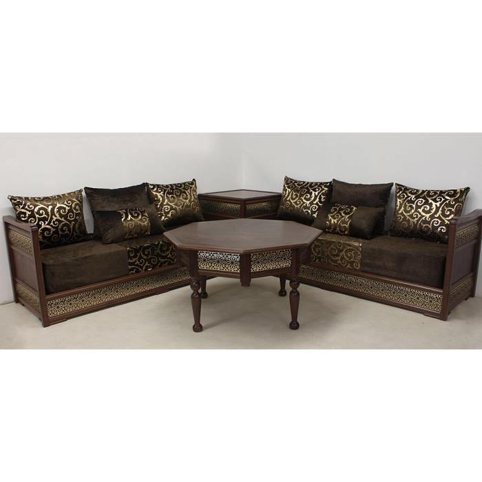 Tissu salon marocain - Achat / Vente canapé - sofa - divan ...