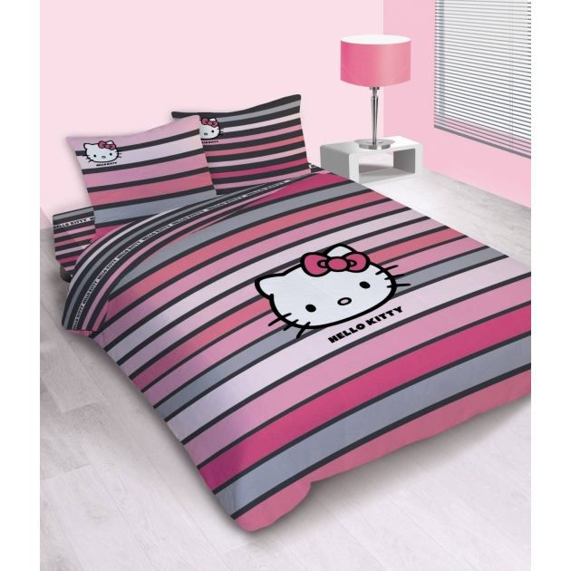 housse de couette hello kitty fancy pink 220 x achat. Black Bedroom Furniture Sets. Home Design Ideas