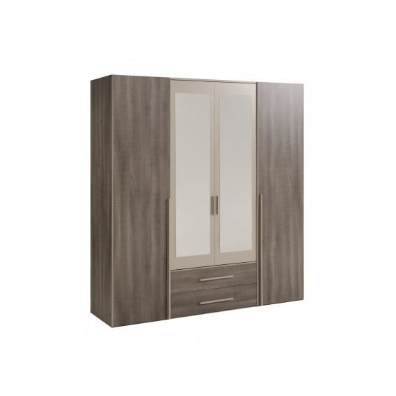 rixk armoire 4 portes achat vente armoire de chambre. Black Bedroom Furniture Sets. Home Design Ideas