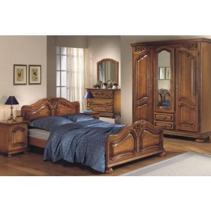 Chambre adulte compl te diana 140x190cm achat vente for Chambre adulte complete solde