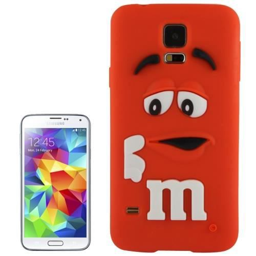 galaxy s5 coque housse en silicone m m 39 s rouge. Black Bedroom Furniture Sets. Home Design Ideas