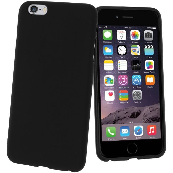 coque silicone gel apple iphone 6 plus noir achat coque bumper pas cher avis et meilleur. Black Bedroom Furniture Sets. Home Design Ideas