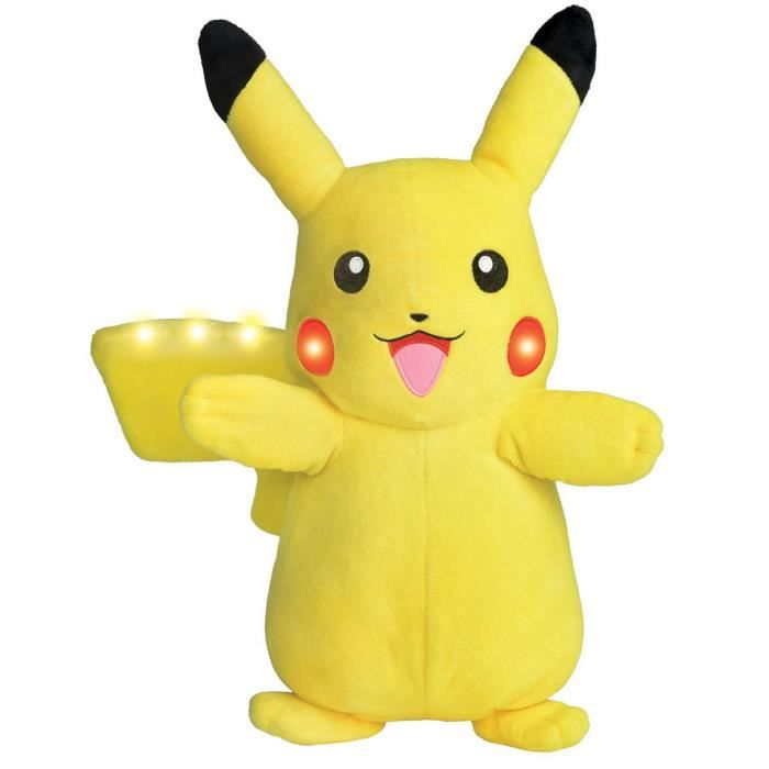 PELUCHE Bandai Pokemon Peluche sonore et Lumineuse Pikachu