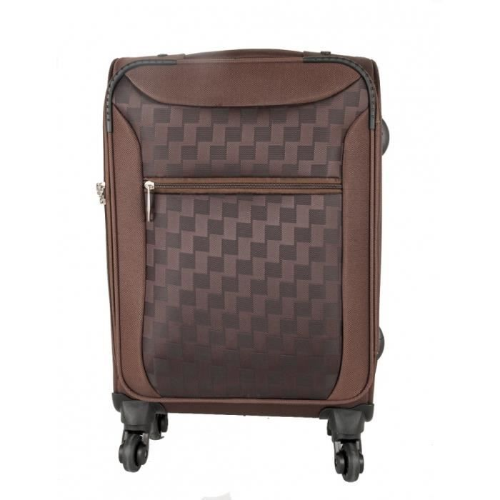 bagage cabine polyester ca marron achat vente valise bagage bagage cabine polyester ca. Black Bedroom Furniture Sets. Home Design Ideas