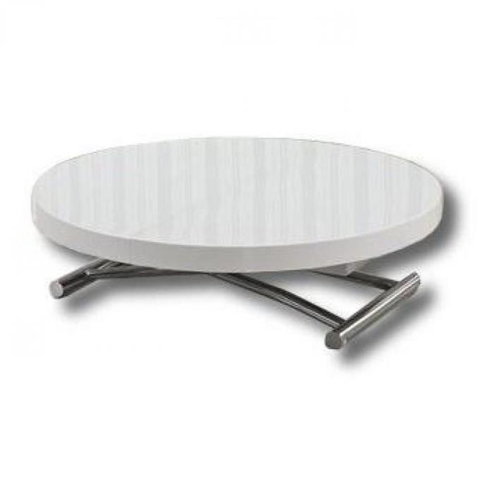 Table Basse Ronde Relevable Et Extensible Satur Achat