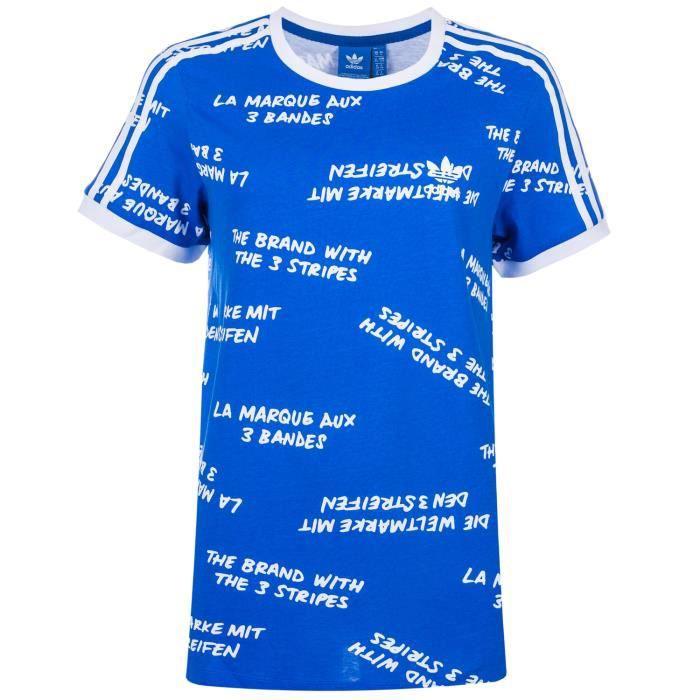tee shirt adidas femme bleu