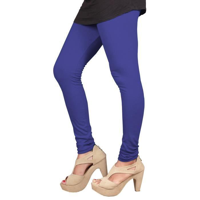 Mesdames longueur cheville coupe extensible coton legging en couleurs blanc