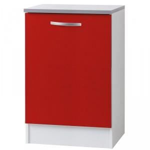 Paris prix meuble bas 1 porte 60cm smarty rouge for Meuble porte rouge